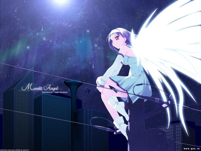 Wallpaper Manga moonlit angel