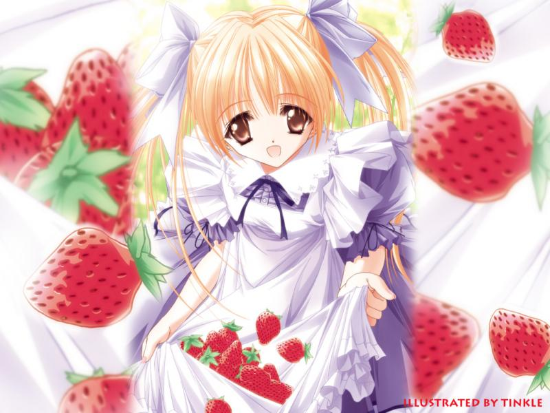 Wallpaper tres jolie fille Manga