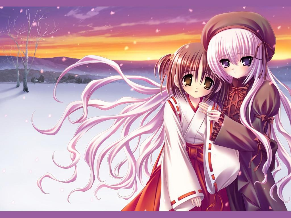Wallpaper tres jolie filles Manga