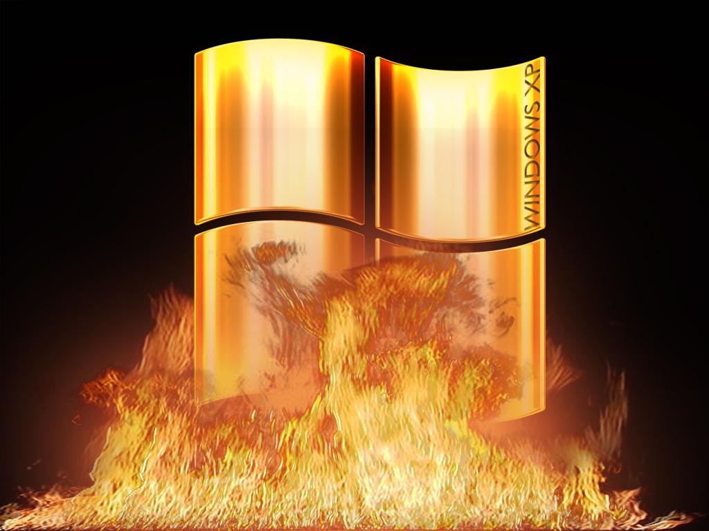 Wallpaper feu Theme Windows XP
