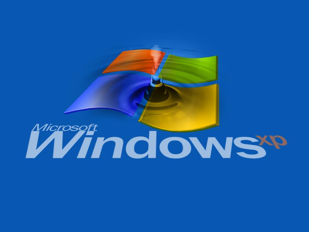 Wallpaper Theme Windows XP goutte d eau