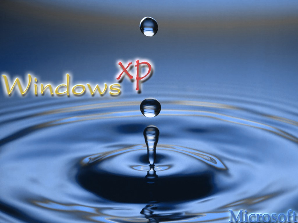 Wallpaper goutte d eau Theme Windows XP