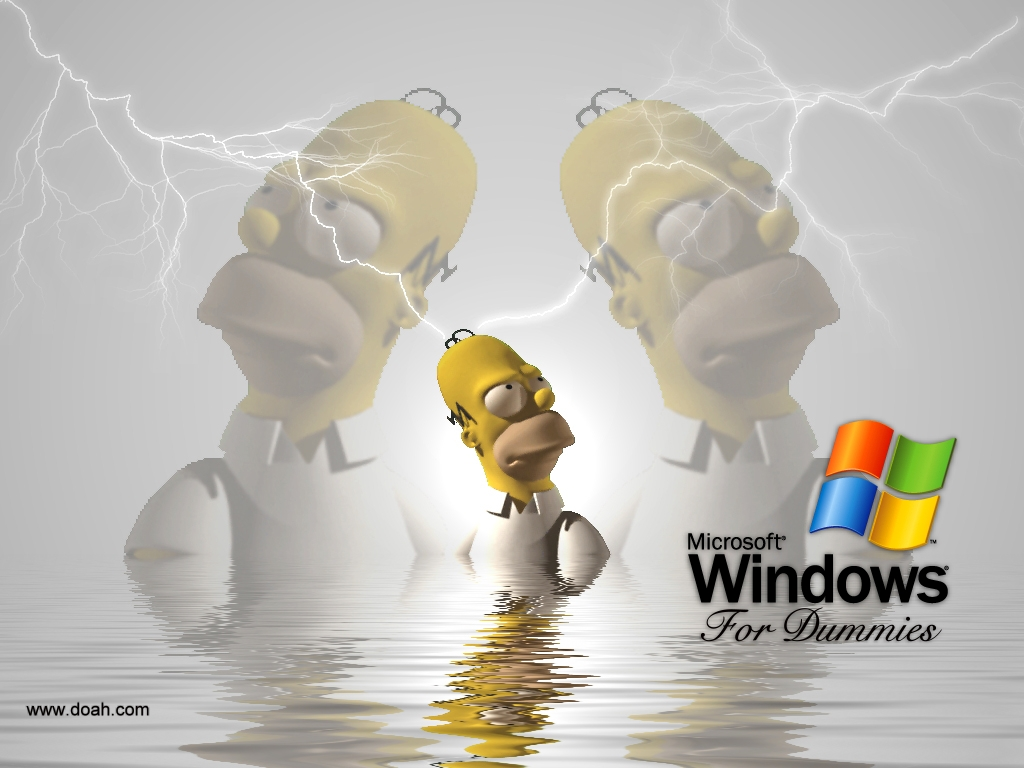 Wallpaper hommer Theme Windows XP
