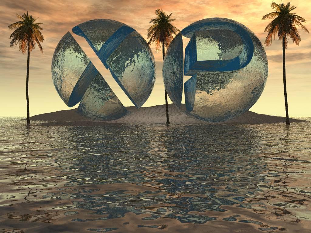 Wallpaper Theme Windows XP ile deserte