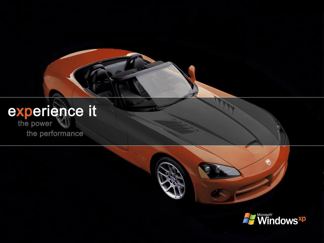 Wallpaper Theme Windows XP voiture