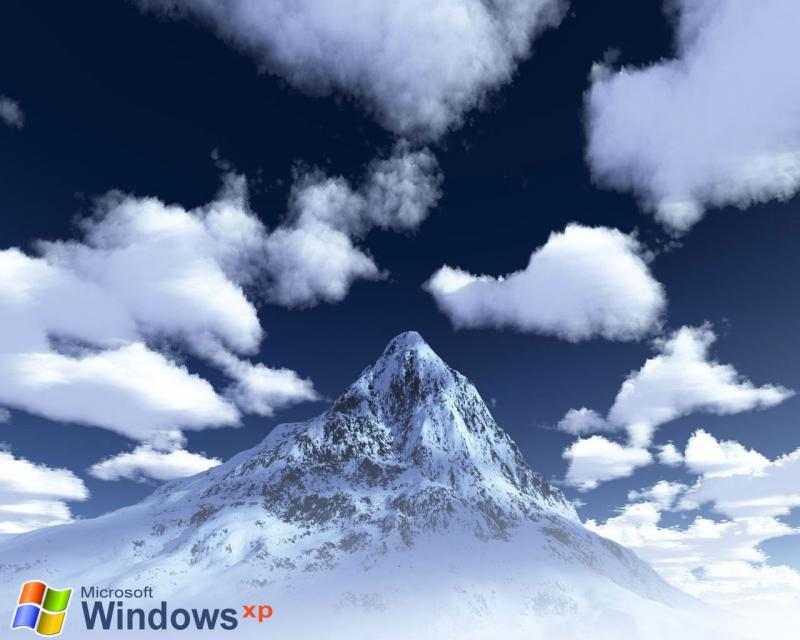 Wallpaper Theme Windows XP montagne