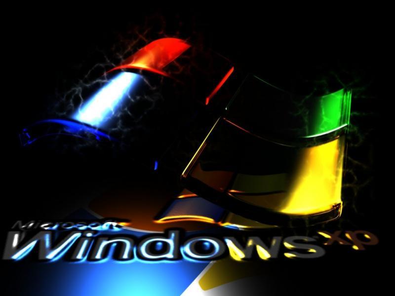 Wallpaper noir Theme Windows XP