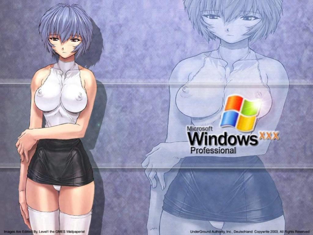 Wallpaper Theme Windows XP rei ayanami