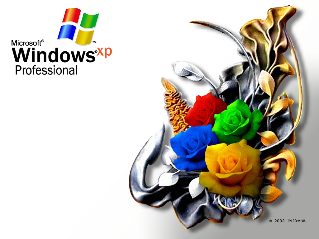 Wallpaper WIN XP Roses Theme Windows XP