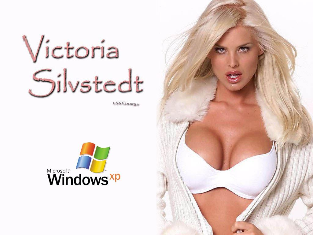 Wallpaper Theme Windows XP WIN XP Hot Victoria Silstedt