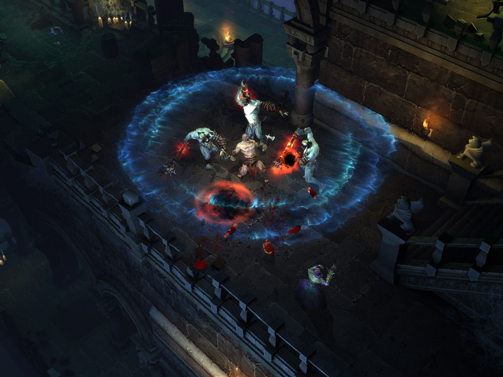 Wallpaper Jeux video Diablo 3 capture ecran barbare