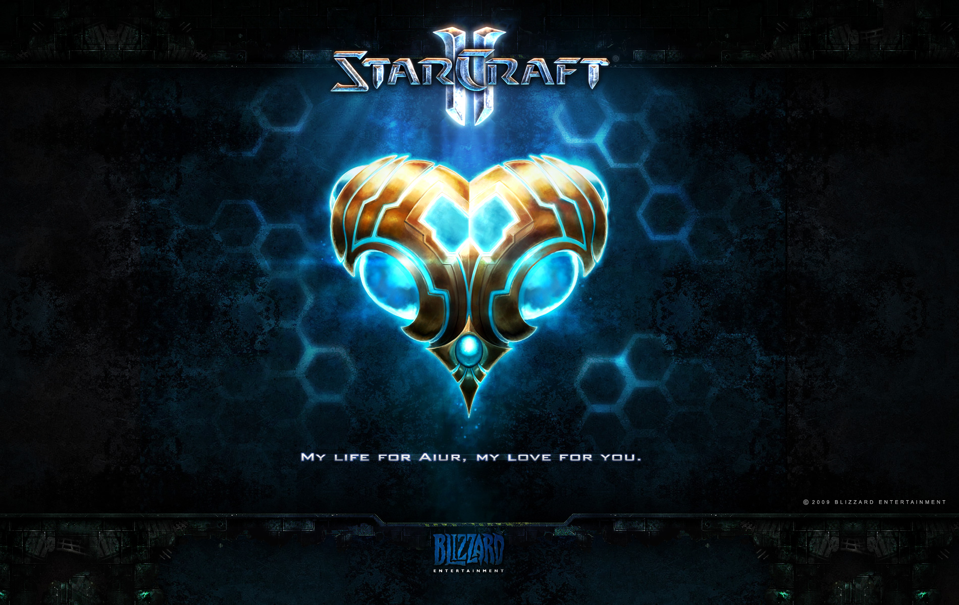 Wallpaper StarCraft 2 Saint-Valentin protoss Jeux video
