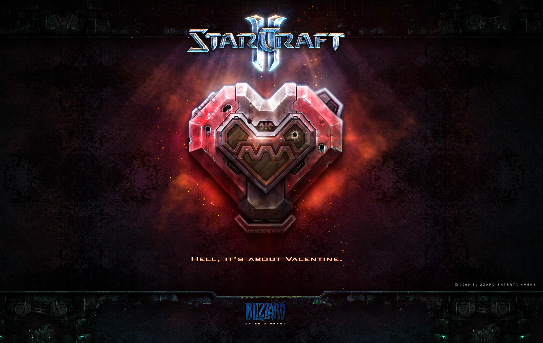 Wallpaper StarCraft 2 Saint-Valentin terran Jeux video
