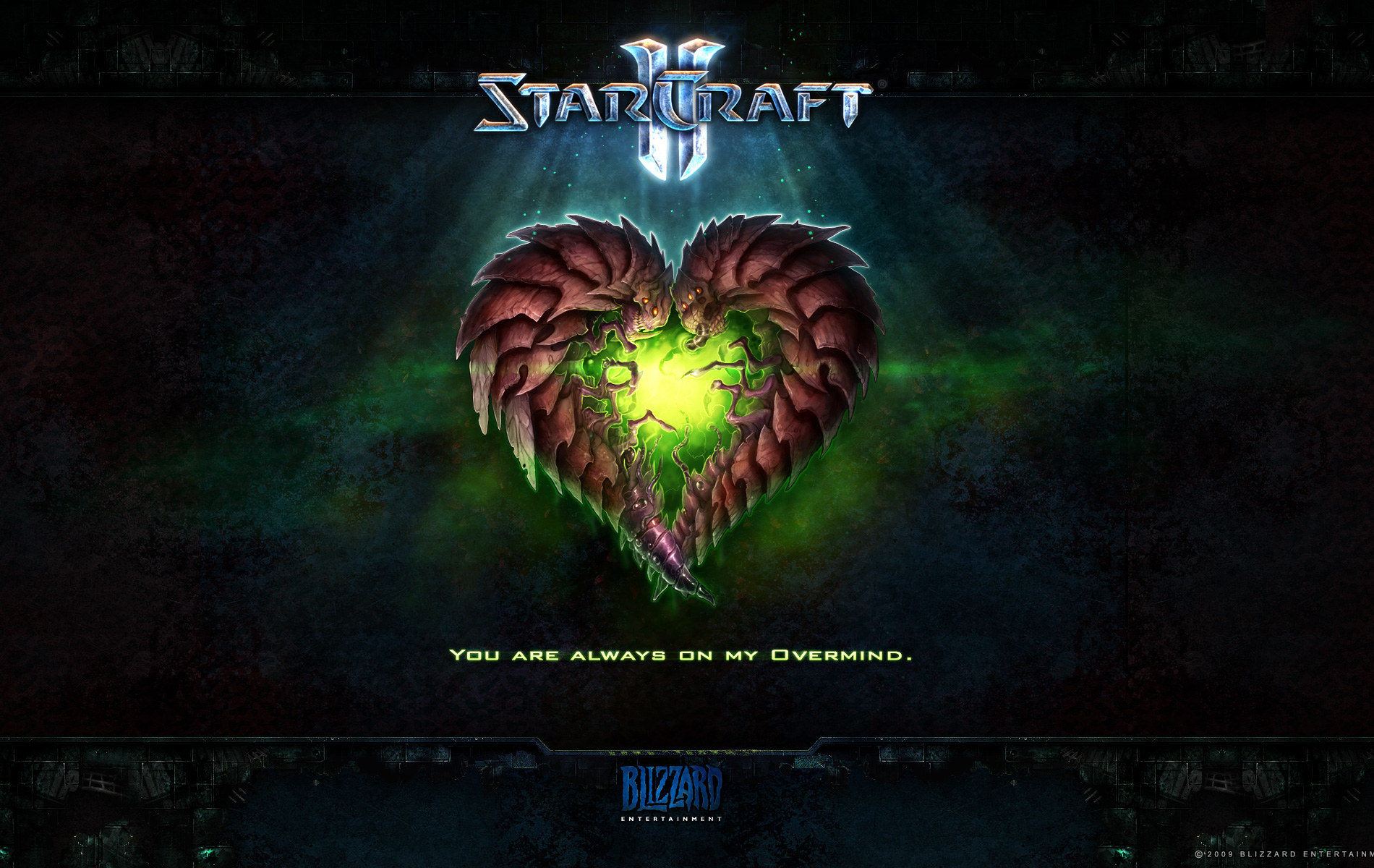 Wallpaper StarCraft 2 Saint-Valentin zerg Jeux video