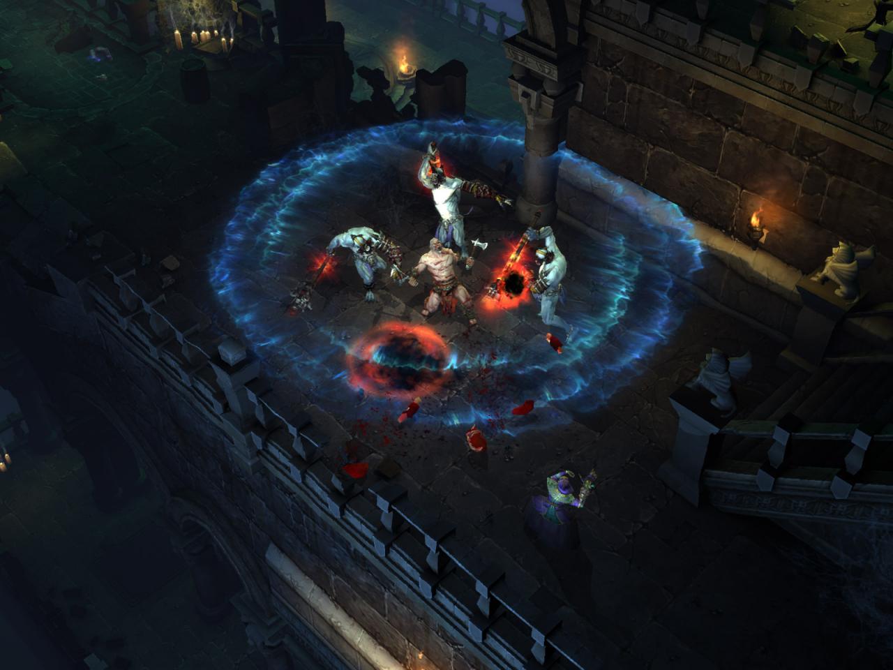 Wallpaper Diablo 3 capture ecran barbare Jeux video