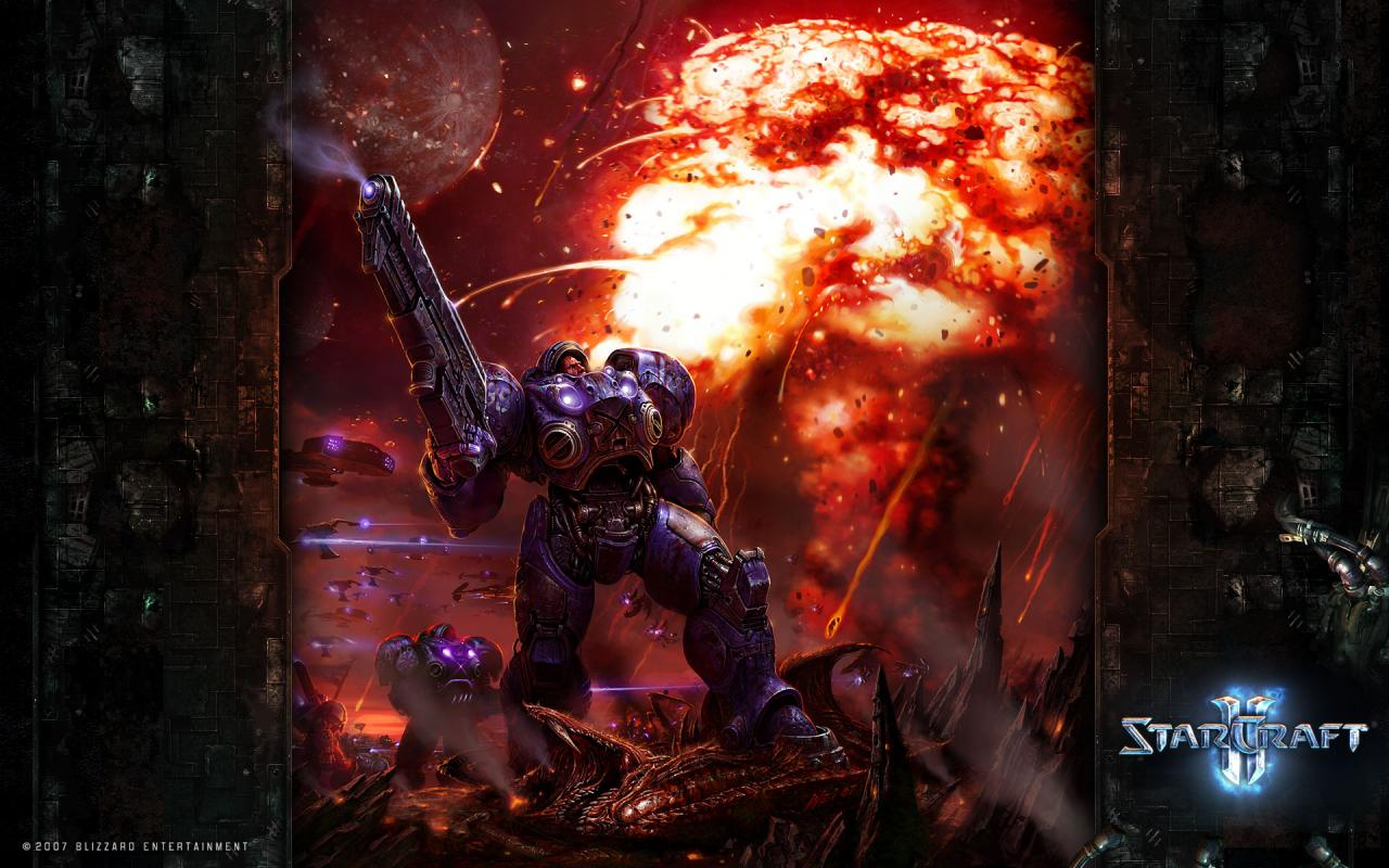 Wallpaper StarCraft 2 - Human vs Zerg Jeux video