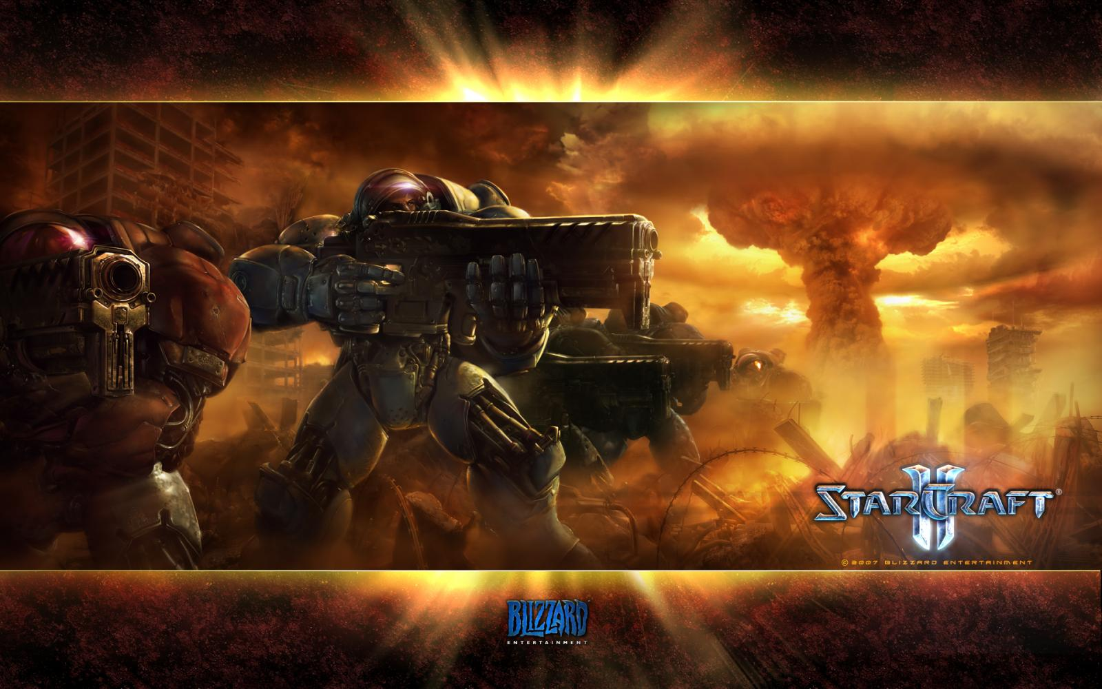 Wallpaper StarCraft 2 Frappe nucleaire Jeux video