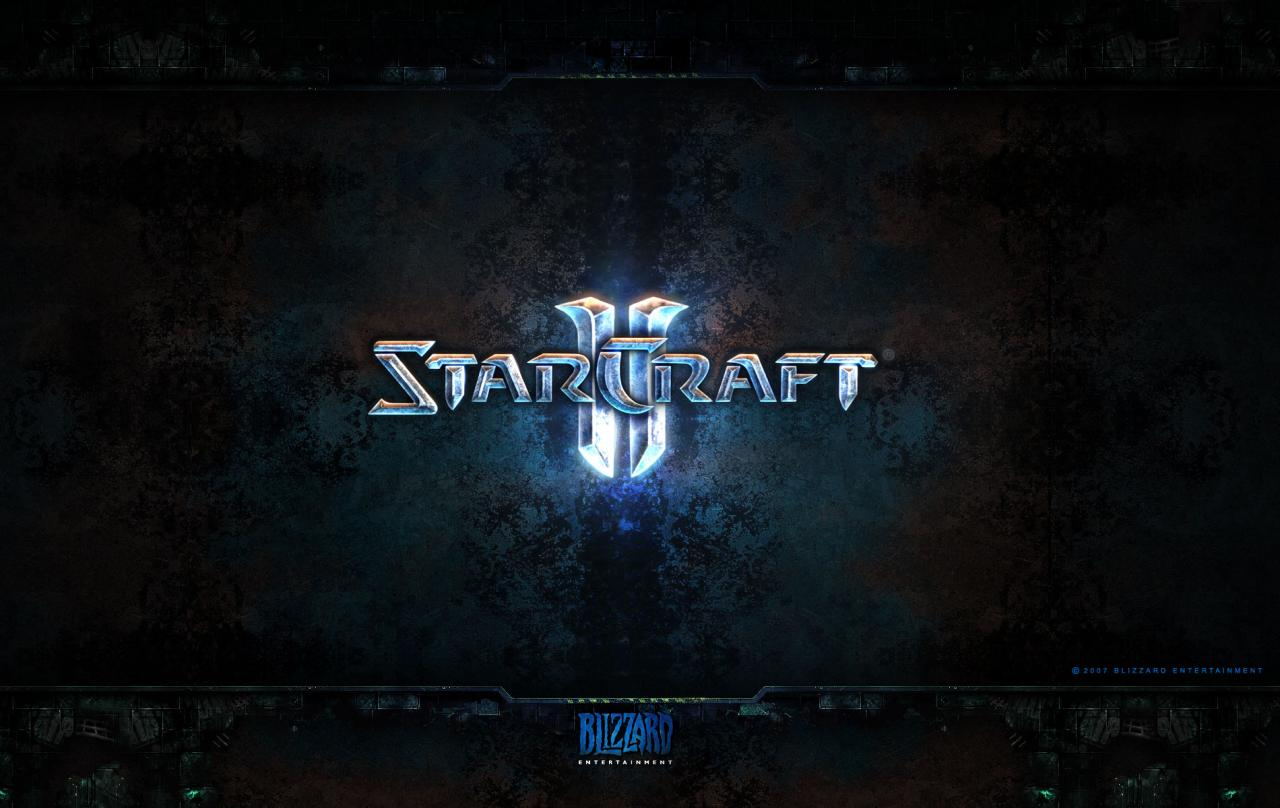 Wallpaper StarCraft 2 Logo Jeux video