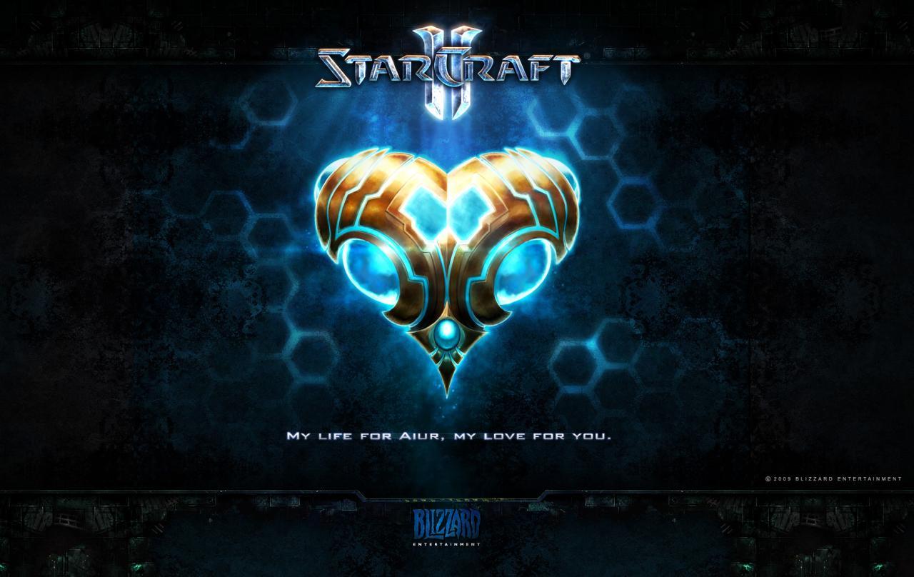 Wallpaper Jeux video StarCraft 2 Saint-Valentin protoss