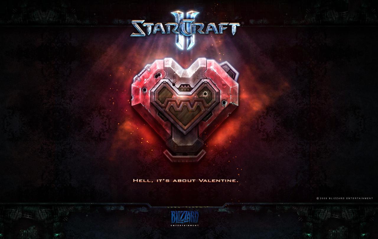 Wallpaper StarCraft 2 Saint-Valentin terran Jeux video