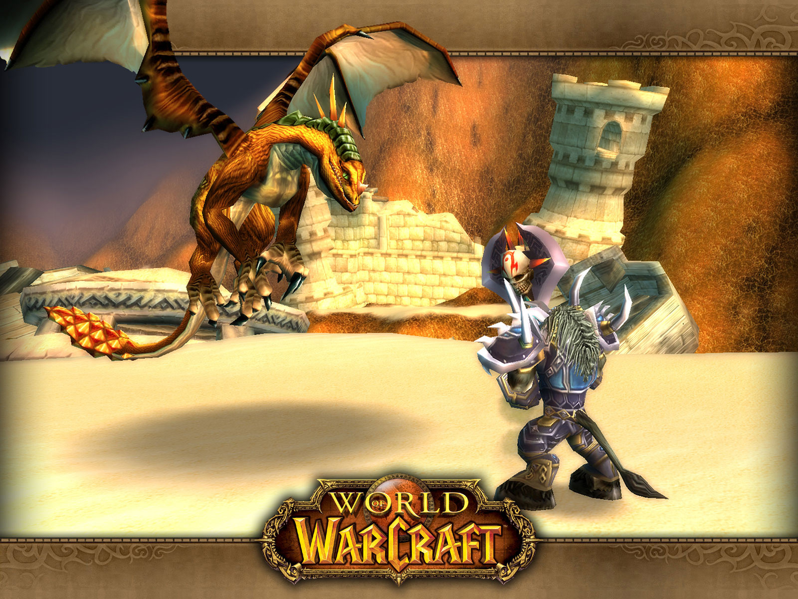 Wallpaper bronzedragonhunt Word of Warcraft WoW