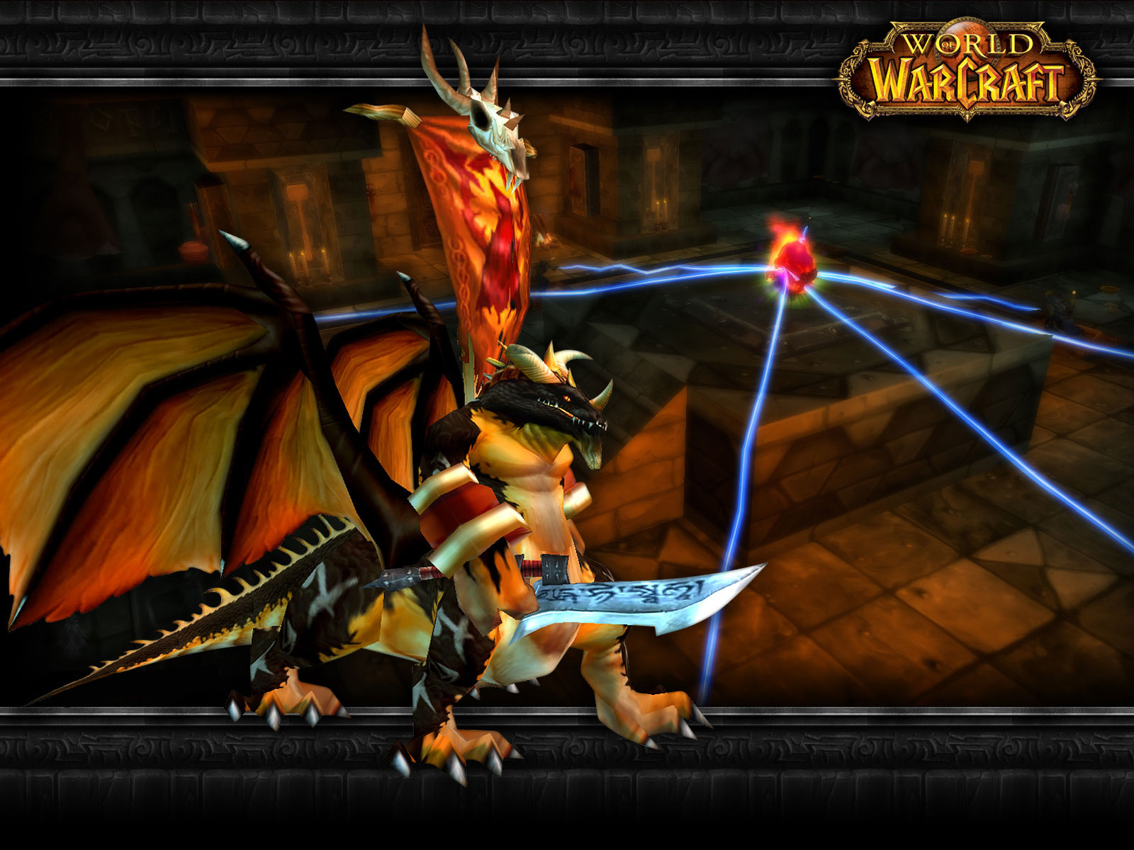 Wallpaper Word of Warcraft WoW dragon kin
