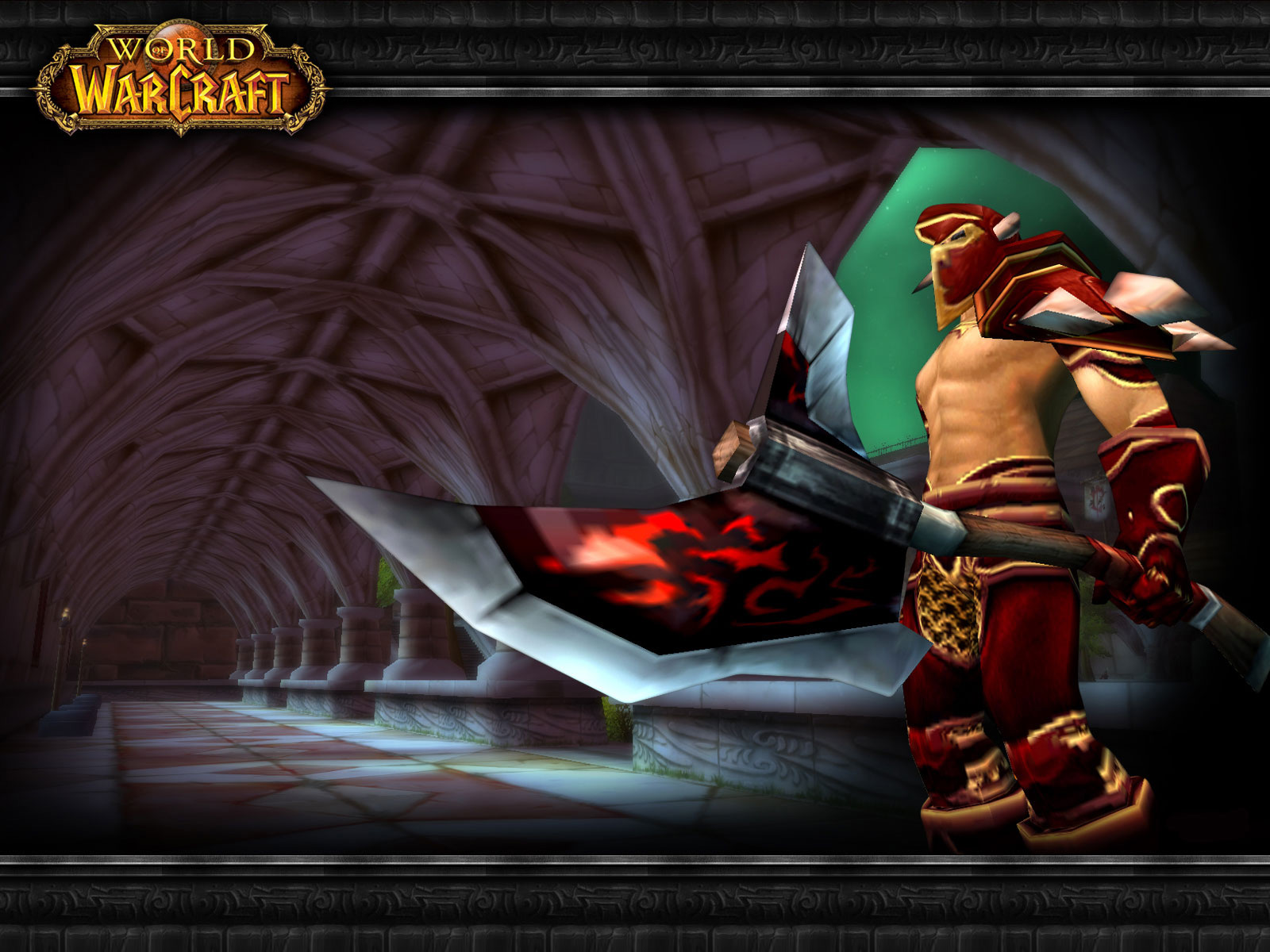 Wallpaper Word of Warcraft WoW scarlet crusader