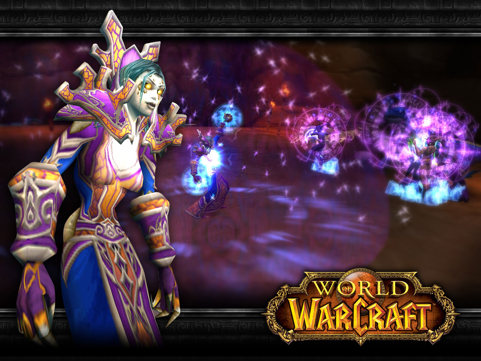 Wallpaper undead mage Word of Warcraft WoW