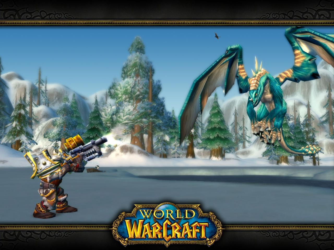Wallpaper Word of Warcraft WoW dragon hunting