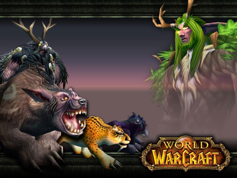 Wallpaper Word of Warcraft WoW druid forms