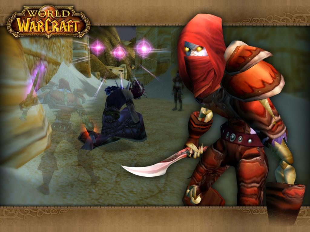 Wallpaper Word of Warcraft WoW undead rogue