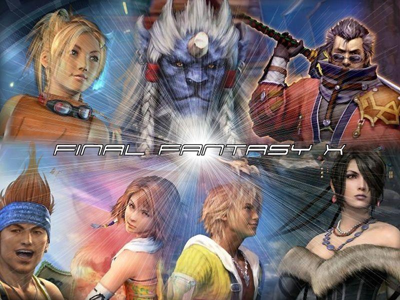 Wallpaper gros titre Final Fantasy 10