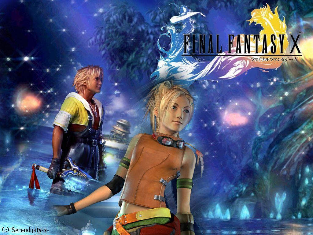 Wallpaper Final Fantasy 10 rikku et tidus