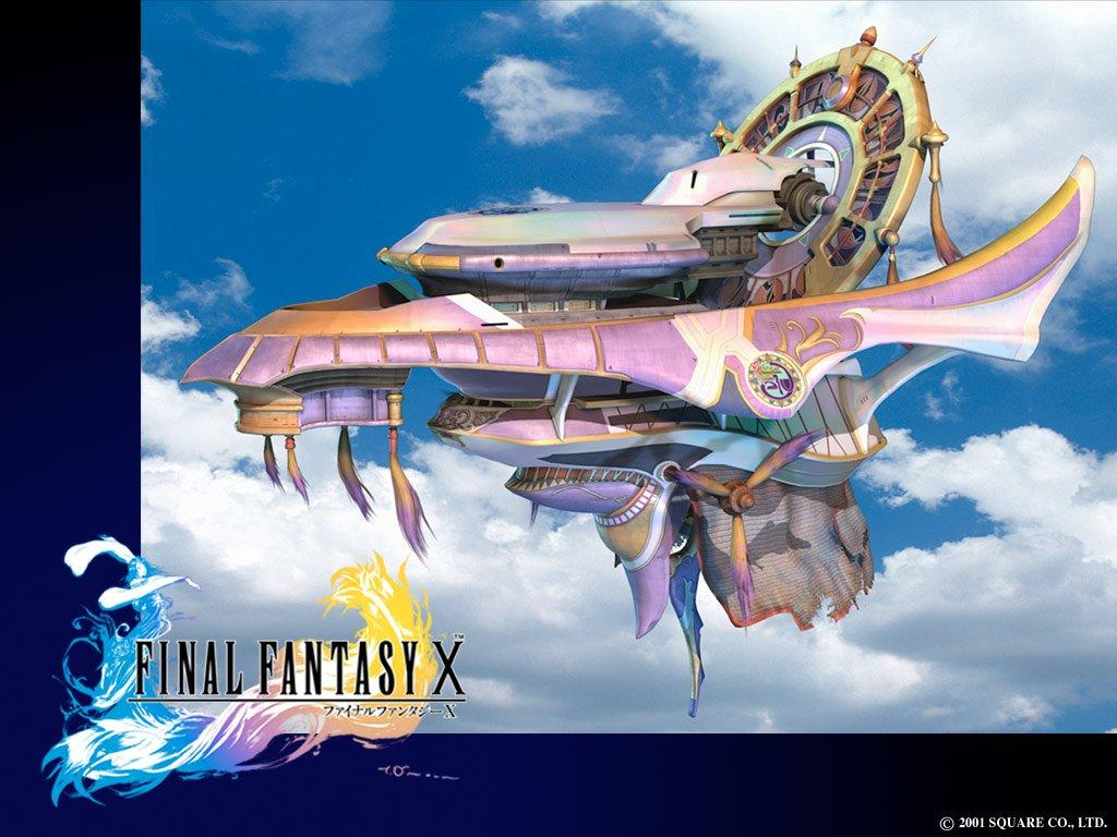 Wallpaper Final Fantasy 10 bateau volant