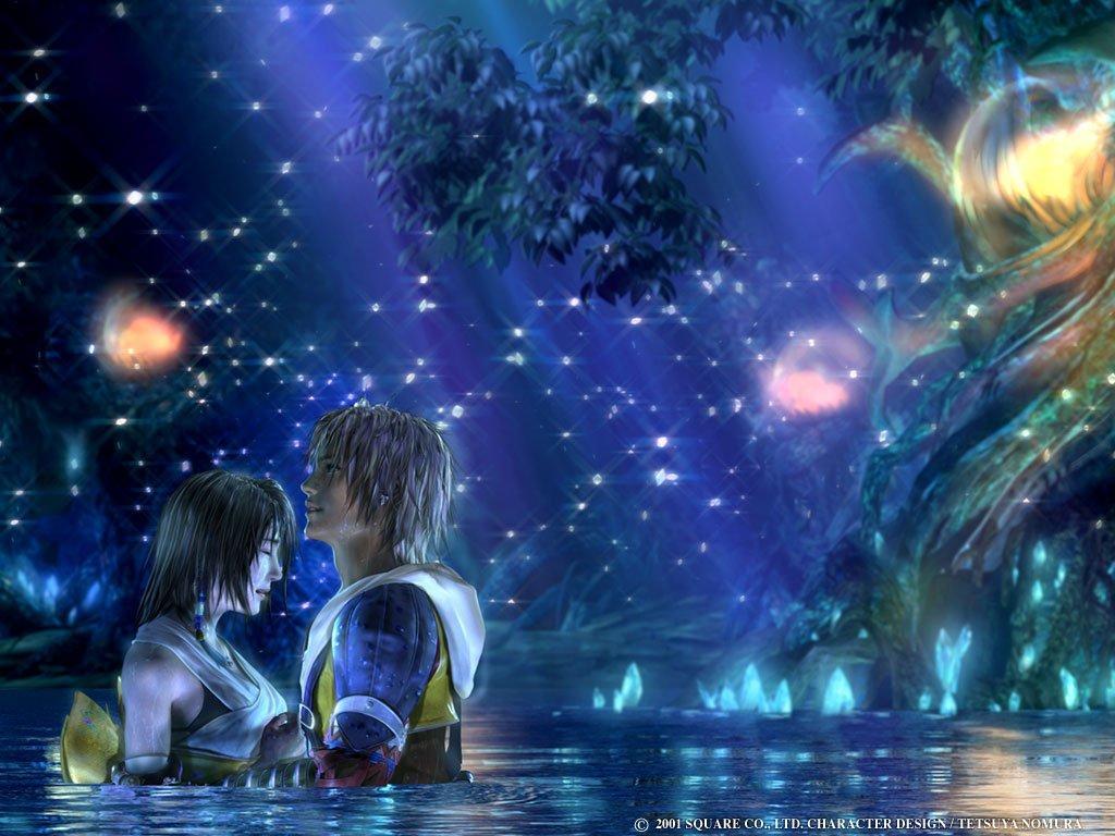 Wallpaper Final Fantasy 10 tidus et yuna