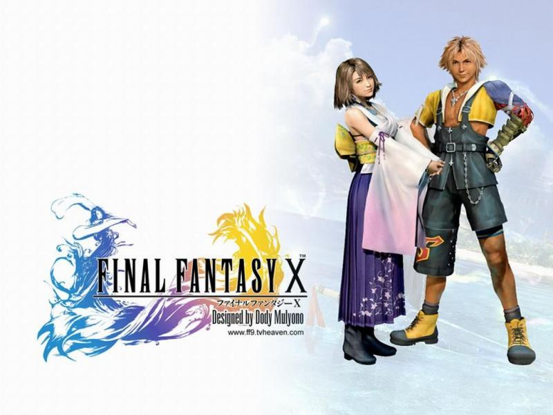 Wallpaper tidus et yuna Final Fantasy 10