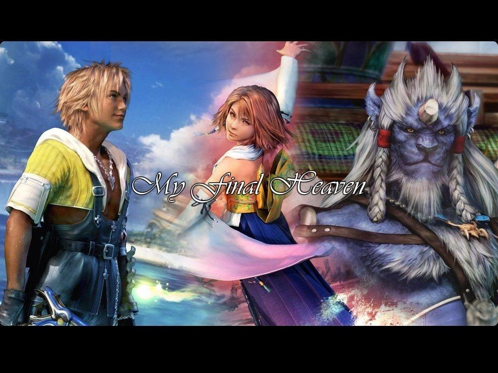 Wallpaper Final Fantasy 10 yuna kimahri tidus
