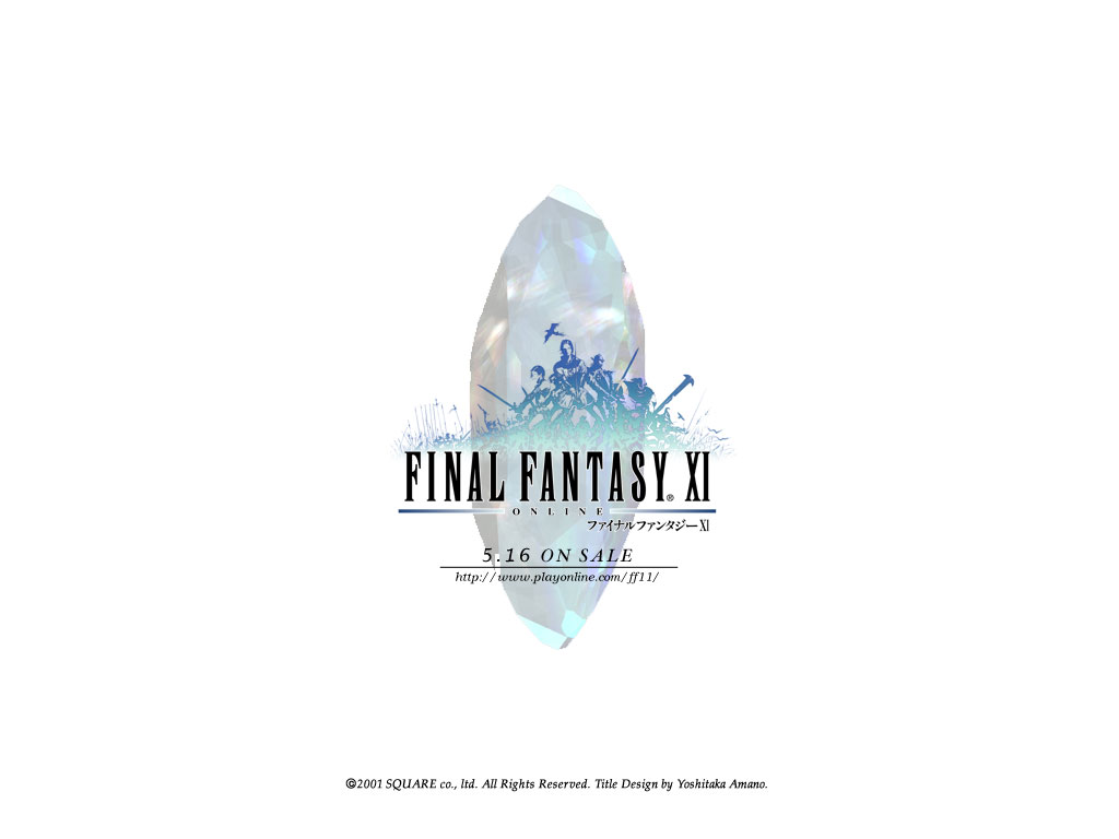 Wallpaper Final Fantasy 11 FF XI logo