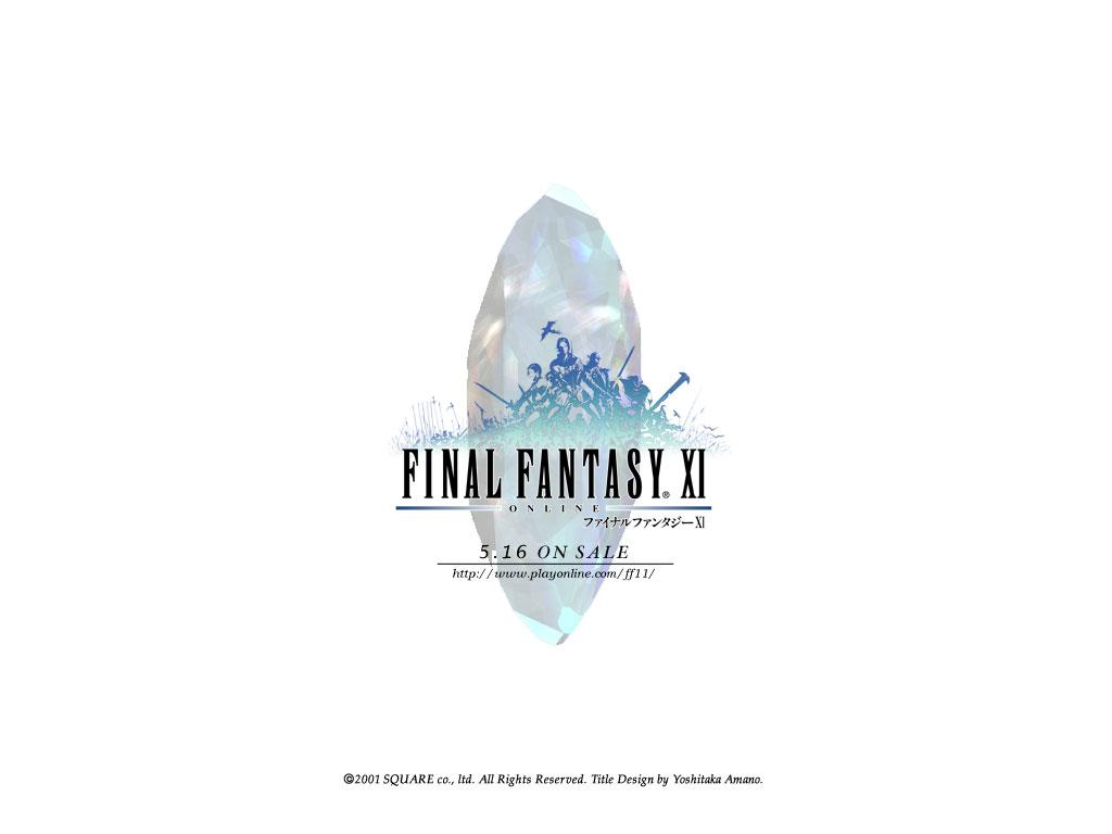 Wallpaper FF XI logo Final Fantasy 11