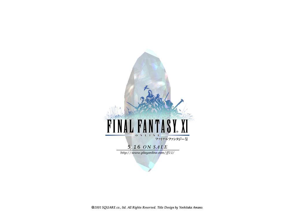 Wallpaper Final Fantasy 11 FF XI logo