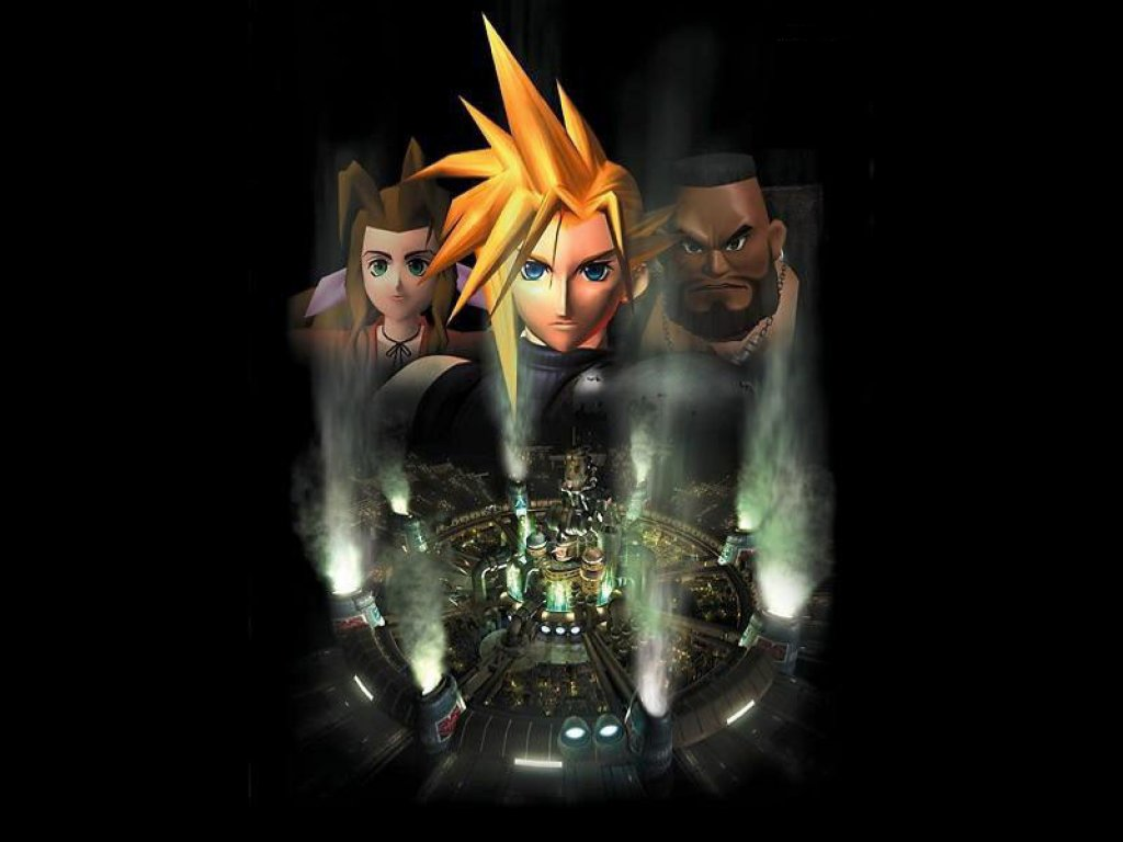 Wallpaper aerith cloud barret Final Fantasy 7