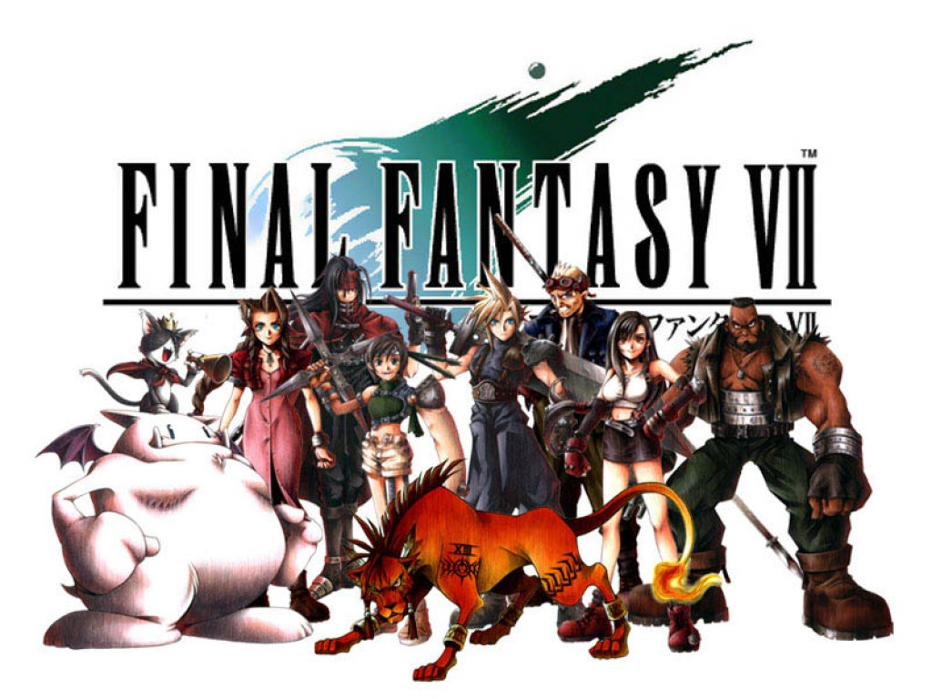 Wallpaper Final Fantasy 7 le groupe