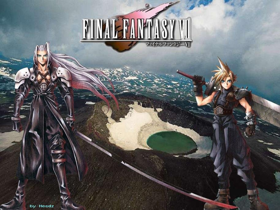 Wallpaper sephiroth et cloud Final Fantasy 7