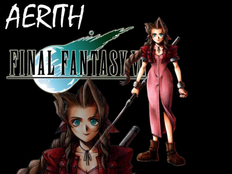 Wallpaper aerith Final Fantasy 7