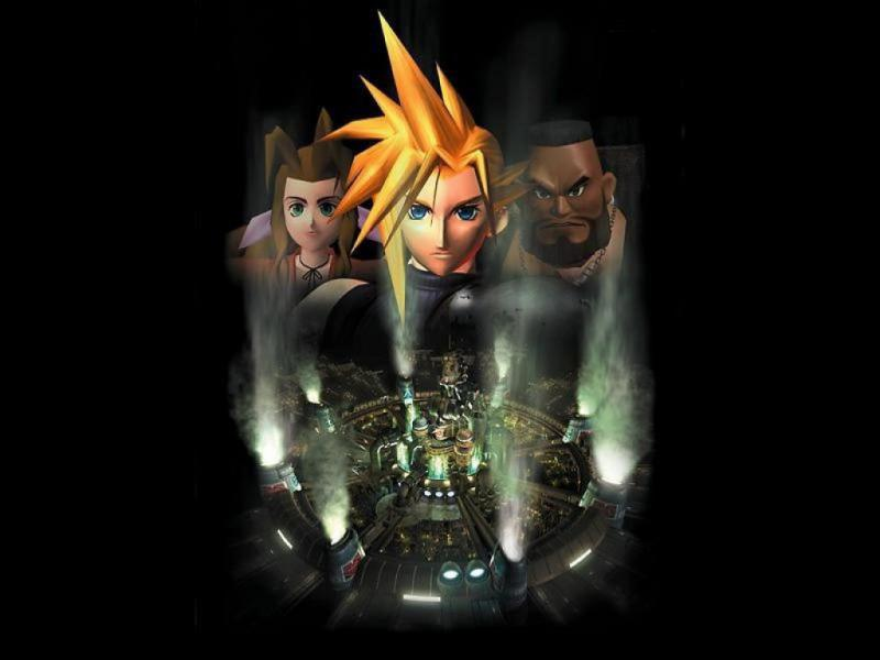 Wallpaper Final Fantasy 7 aerith cloud barret