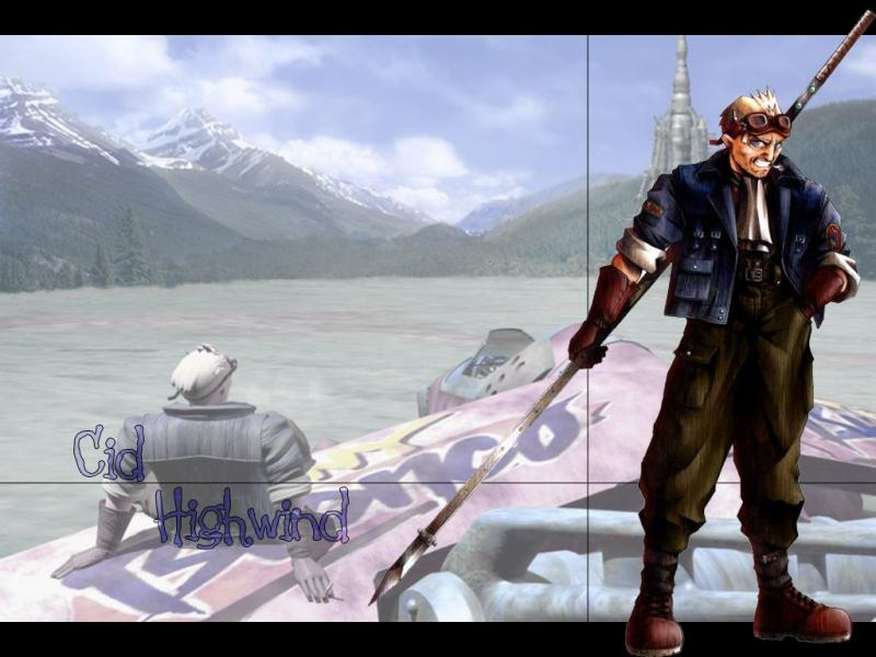 Wallpaper Final Fantasy 7 cid