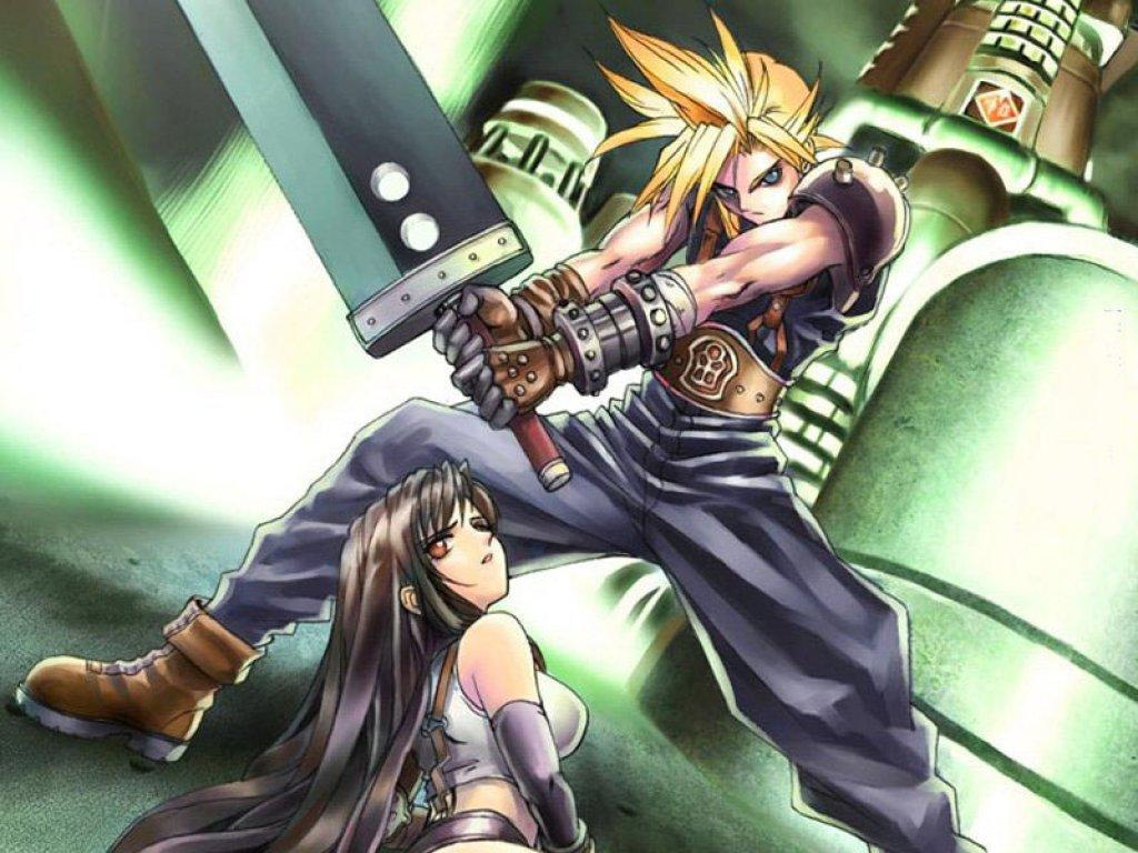 Wallpaper Final Fantasy 7 tifa et cloud