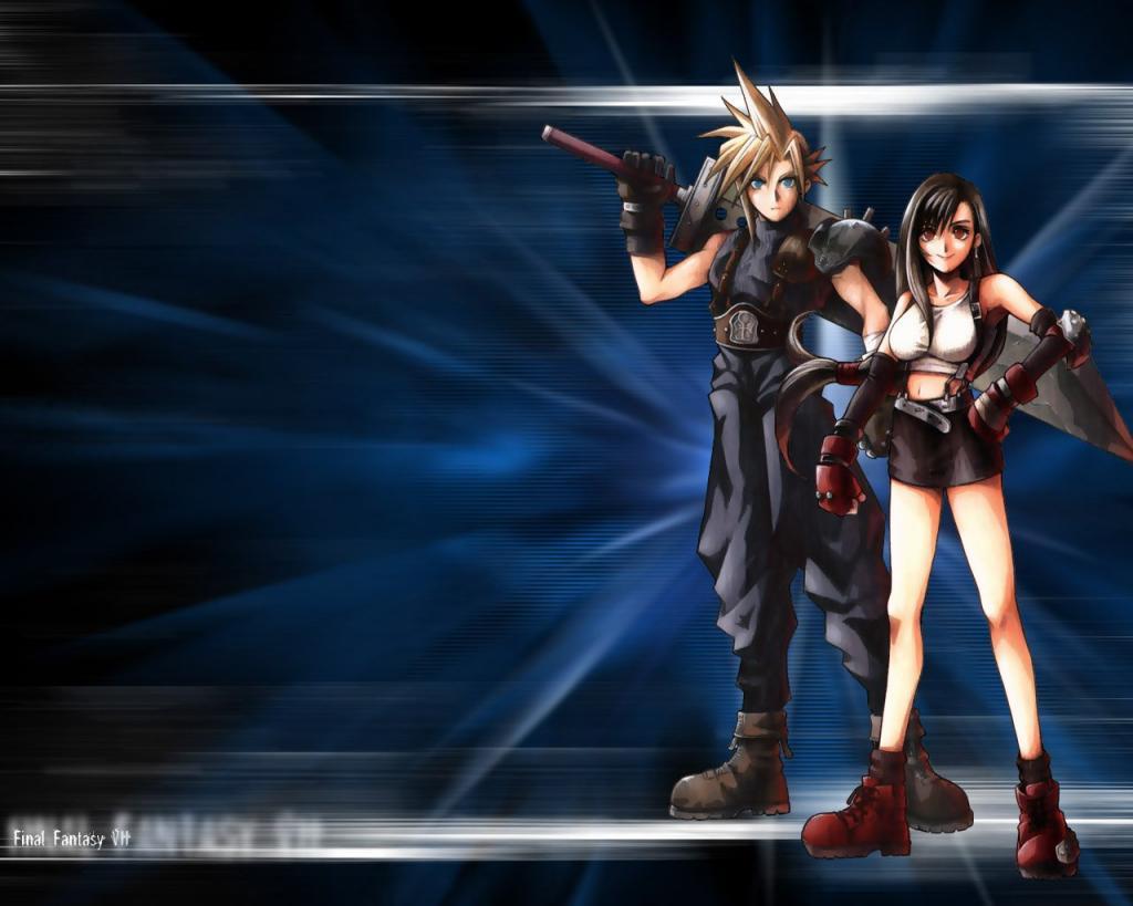Wallpaper Final Fantasy 7 tifa et cloud