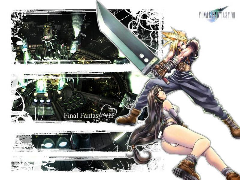 Wallpaper tifa et cloud Final Fantasy 7