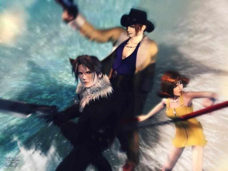 Wallpaper Final Fantasy 8 squall irvine selphie